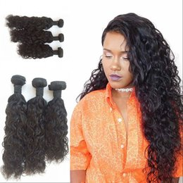 12 Inch Weft Human Hair Australia - Brazilian Human Hair Wavy Wave Bundles for 3pcs Double Weft Hair Weaves 8-30 inch Natural Color Large Stock FDSHINE