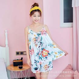 Ladies cotton nightdresses online shopping - YF415 summer ladies nightdress large size sling artificial cotton pajamas cotton leisure clothing