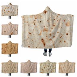 Corn Hooded Blankets 200*150cm Sherpa Cape Burrito Blanket Hooded Towel Soft Winter Sherpa Fleece Throw Blankets Outdoor Pads GGA1850 on Sale