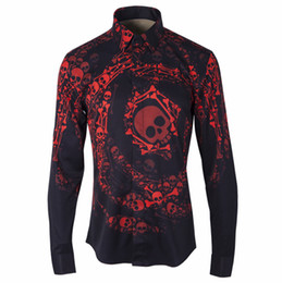 highest quality digital prints UK - Original Newest Hot sales male shirt Gradient 3D Digital printing Camisa Masculino plus size 3XL 4XL high quality Skull men casual shirt