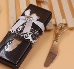 $enCountryForm.capitalKeyWord Australia - Spread The Love Heart-Shaped Heart Shape Handle Spreaders Spreader Butter Knives Knife Wedding Gift Favors