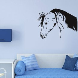 Tattoo Wall Sticker NZ - Black Horse Head Branch Wall Stickers Home Decor Living Room Bedroom GYM Sport Wall Decals Removable Vinyl Wall Tattoo