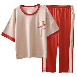 0181656be2b6 Ladies cotton pyjamas online shopping - Women Pajamas Summer Cotton Cartoon  Pyjamas Short Sleeve Round Neck
