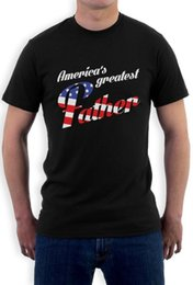 Red Black Grey Shirts Australia - Americas Greatest Father Fathers Day U.S.A Flag T-Shirt Gift Ideawhite black grey red trousers tshirt