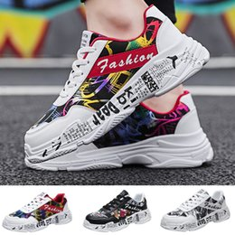 graffiti shoes 2019 - ONTO-MATO Sneakers Men Fashion Wild Graffiti Casual Shoes Comfortable Breathable Low-Top Sneakers Dropshipping calzado h