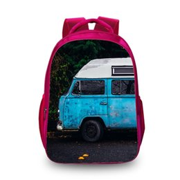 Car Lights Australia - New Hot 3D Backpack Car Fashion Women Men Travel Bags for Teenager Girls Boys School Bags Book Bag Drop Ship