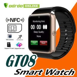 Luxury watches for kids online shopping - GT08 Bluetooth Smart Watch with SIM Card Slot and NFC Health Designer Luxury Watches Android and for IOS Apple iwatch band DZ09 Smart watch