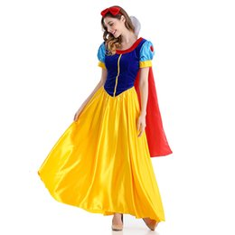 $enCountryForm.capitalKeyWord Australia - Costumes Snow White Cosplay Halloween for Women Wear Adult Fantasia Carnival Party Cartoon Princess Snow White Dress Costumes SH190910