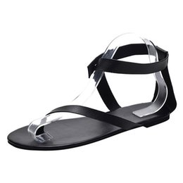 e36546261 Beach Sandals Womens Gladiator Roman Shoes Flat Thong Sandals Footwear Plus  Size 42 43