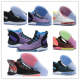 cheap purple shoes for men Canada - FIBA World Cup Black Purple Multicolor Men Team Basketball Shoes For Cheap Sale Alphadunk 2019 HoverBoard Sports Sneakers Mens Trainers