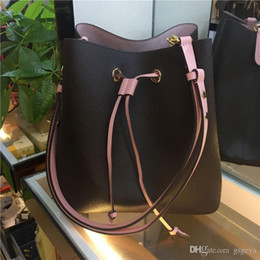 Wholesale neo leather resale online - 2020 Classic handbags NEO NOE shoulder bags Noé leather bucket bag women flower printing crossbody bag purse