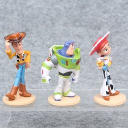 Wholesale Lighting Toys Australia - 3 Models Toys Storys Rex Buzz Light INyear Woody Jessie Lotso Rex Dinosaur Bullseye Horse little green men Figure Toys