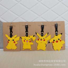 pvc key tags 2019 - Anime key chain PVC keychain Pikachu baggage tag Boarding pass personalized cute cartoon fun pendant jewelry gift brelok