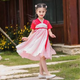 Fairy Style Dresses UK - Summer 2019 Thin section Chinese Style Embroidered super-fairy dress for children and fairy dress for girls D202