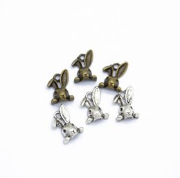Antique Metal Rabbit Australia - 2019 Antique Bronze Antique Silver alloy Rabbit Head Charms Pendants Jewelry Diy Jewelry Findings Handmade 14x9mm