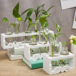$enCountryForm.capitalKeyWord Australia - 1pcs Creative Wooden Stand Glass Terrarium Container Hydroponics Planter Flower Pot Tabletop Vase DIY Home Office Wedding Decor