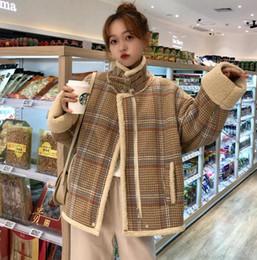 $enCountryForm.capitalKeyWord NZ - New Autumn Winter Women's Cotton-padded Coat Lady Loose Plaid Coat Biker Jacket Overcoat C3986