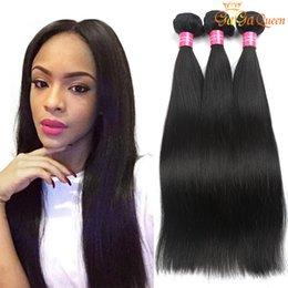 Queen cheap human hair online shopping - 8A Unprocessed Indian Virgin Hair Straight Bundles Cheap Human Hair Weaves Indian Straight Virgin Hair Bundles gaga queen