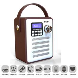 Dab portable raDio online shopping - DAB Digital Radio Wood Record Player Retro FM Receiver MP3 Bluetooth Stereo Handsfree Portable Rechargeable USB LCD Display