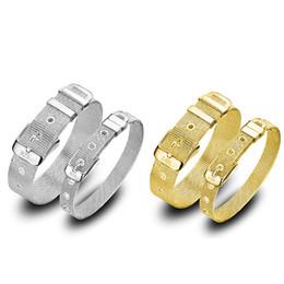 6e0f159b854b Correa de estilo de reloj de moda Pulseras Hombres Mujeres Oro amarillo y  plateado Amantes parejas Joyería Pulsera