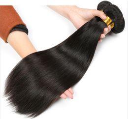Discount human hair pieces for black women - Cheap Brazilian Hair Straight Unprocessed Virgin Human Hair Bundles 4 Pieces Lot Straight Human Hair Weave Natural Black