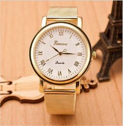 $enCountryForm.capitalKeyWord Australia - Women's Luxury Women's Watch Roman Digital Dotted Disc Steel Belt Watch Metal Mesh Belt Wrist Bracelet