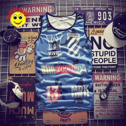 $enCountryForm.capitalKeyWord Australia - Fashion Mens Tank Top with Letters Sport Gym Clothes Vests Clothing sports 3d printed vest lightning 13th top AX10