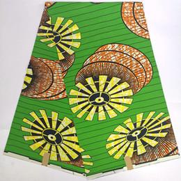 $enCountryForm.capitalKeyWord Australia - Beautiful Green Nigerian african ankara gold real soft wax print wax fabric,umbrella 100% cotton african clothes material SP043