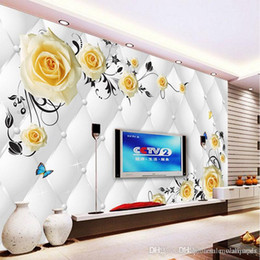 $enCountryForm.capitalKeyWord NZ - Custom Any Size Photo Background Wallpapers Butterfly Flower Art Wall Covering BedRoom Murals Modern WallPaper Home Decor