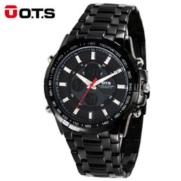 $enCountryForm.capitalKeyWord Australia - OTS Luxury Watch Men's Business Casual Wristwatches Sport Dual Display Waterproof Watches