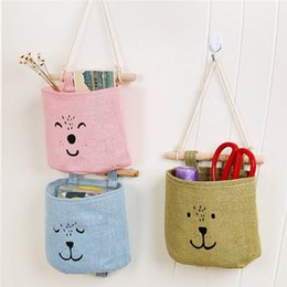 storage key organizer Australia - Kitchen Sundries Storage Wall Hang Bag Door Back Toys Key Pockets Living Room Snack Hanging Pouch Bathroom Toiletries Organizers