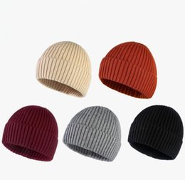$enCountryForm.capitalKeyWord Australia - Wool Beanie Caps Sweetheart Unisex Stripe Soft Hats Skull Mens and Womens Warm Wool Hats His-and-Hers Beanies