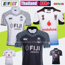 46557ef0806 2018 World Cup fiji home white Rugby jersey 2019 Sevens Olympic Shirt 17 18  19 NRL National 7 s Rugby Jersey s-3xl