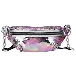 Belt purses online shopping - Outdoor Lady Sequins Waist Bags Cute Women Rivet Chest Belt Bags Travel Causal Feminina Bum bag Purse TTA498
