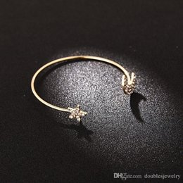 Gold 18k Shop NZ - European and American styles are full of five angle stars moon bracelet alloy material diamond accessories shop owners channel manufact