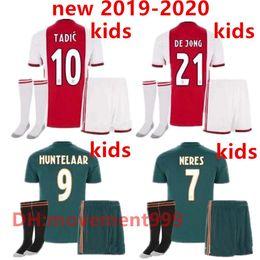 bb8c75f0193 NEW 2019 Ajax FC Soccer Jerseys home kids kits away 19 20 Customized  7  NERES   10 TADIC  4 DE LIGT  22 ZIYECH Football Shirt+socks