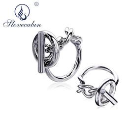 $enCountryForm.capitalKeyWord NZ - Slovecabin 925 Sterling Silver European Vintage Bijoux Femme Hip Hop Men Wedding Rings Engagement Jewelry Big Rings For Women C19041201