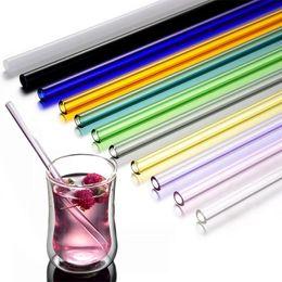 $enCountryForm.capitalKeyWord NZ - Women Lipstick Protecting Colored Straight Glass Straws Pipet Reusable Wedding Birthday Party Drinking Straws Barware