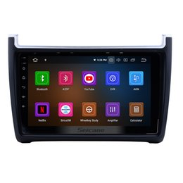Volkswagen Gps Inch Australia - 9 inch Android 9.0 Car Stereo GPS Navigation for 2011-2015 VW Volkswagen POLO with Bluetooth Music WIFI support Mirror link 1080P car dvd