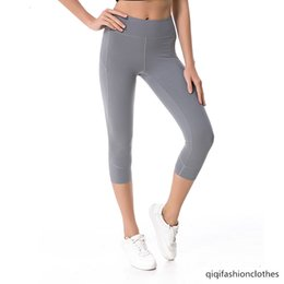 three dimensional clothes Canada - Summer Yoga Sports Seven Points Pants Female Fitness Elastic Force Yoga Clothing Splicing Three-dimensional Seven Points Tight Pants