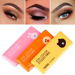 China NOVO New 8 Color Silky Slide Eyeshadow Palette Wet & Dry Powder Eyeshadow With Brush Makeup Shimmer Matte Nude Smooth Eye Shadow suppliers