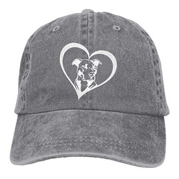 330a4a9c98b Bull Caps UK - 2019 New Cheap Baseball Caps Print Hat Pit Bull Heart Mens  Cotton