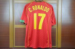 Euro soccEr online shopping - Retro Soccer Jerseys euro cup home Figo ronaldo Rui Costa jersey shirt Camisa de Futebol Maillot Foot Camiseta