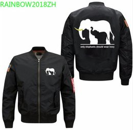 c88be8472 2018 fashion winter thick only Elephant should wear ivory Men s Bomber  Jacket Men s cotton clothes USA SIZE XS-5XL