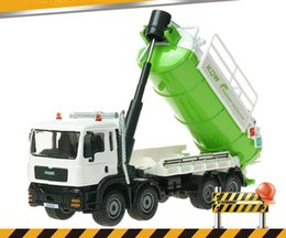 Cleaning Alloys Australia - KDW Alloy Truck Model Toy, Wastewater Recovery Transport Truck, Cleaning Sanitation Car, for Party Kid' Birthday Gift, Collecting,Decoration