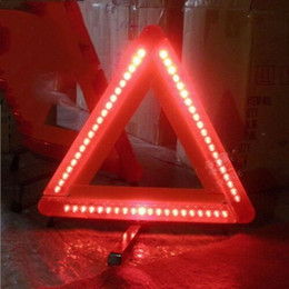 reflective road signs NZ - High Quality LED light High Quality Car Warning Triangle Emergency Safety Reflective Sign Road Roadside