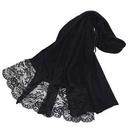 $enCountryForm.capitalKeyWord UK - New Design Plain Ruched Wrinkle Women Amira Hijab Shawl Patchwork Lace Pearls Long Scarves Muslim Hijabs Turkish scarf