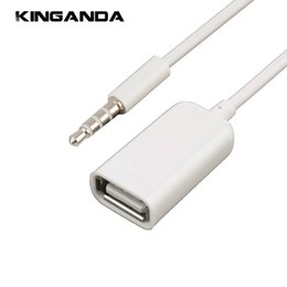 2pcs 3.5mm Jack mâle vers USB 2.0 câble adaptateur femelle 3.5 mm AUX Audio Plug to USB2.0 Convertisseur Cordon de charge pour voiture MP3 MP4 CD