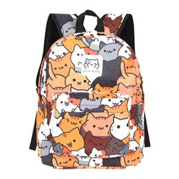 8ef12dcd4682a 2019 Anime Neko Atsume Women Backpack for Girls Boys Cute cat backyard  Travel Rucksack Cute Cat Student Backpacks #168495