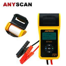 AUTOOL BT-660 Probador de batería de automóvil con impresora incorporada Analizador de batería BT660 para Inundado, AGM, GEL, EFB Detectan celda de batería defectuosa en venta